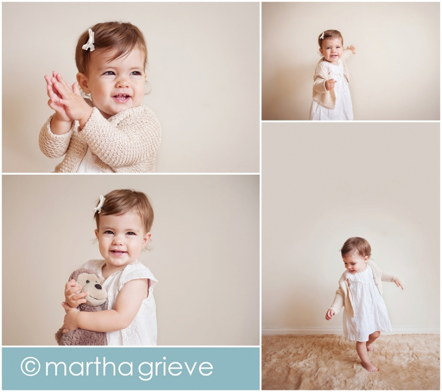 1 year old baby photo session - Martha Grieve Photography