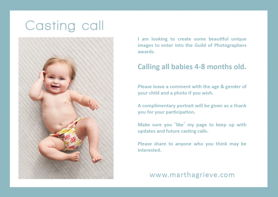 casting call - babies 4-8 months old London